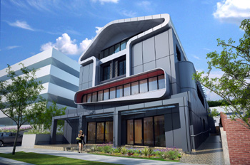 Panhouse mixed commercial and residential development, Chatswood, Sydney