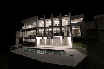 Newport new house - at night