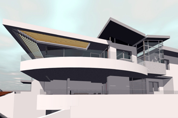 Concept sketch for house in Rose Bay